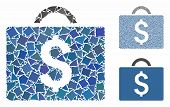 Commercial Briefcase Mosaic Of Trembly Items In Various Sizes And Shades, Based On Commercial Briefc poster
