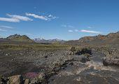 Icelandic Landscape With Canyon Of Innri-emstrura River And View On Tindfjallajokull Glacier Mountai poster