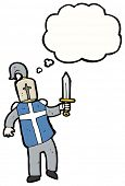 stock photo of arthurian  - cartoon medieval knight - JPG