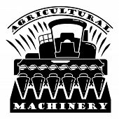 Agricultural Machinery Logo. Simple Illustration Of Agricultural Machinery Vector Logo For Web Desig poster