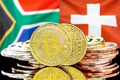 Concept For Investors In Cryptocurrency And Blockchain Technology In The South Africa And Switzerlan poster