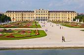 foto of schoenbrunn  - view of the palace Schoenbrunn in Vienna - JPG