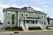 stock photo of duplex  - Duplex Apartment Housing - JPG