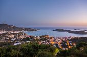pic of thomas  - Sunset over the harbor of Charlotte Amalie in St Thomas with view over town and yachts in bay - JPG