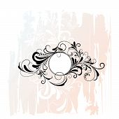 foto of dessin  - Circle Decorative Flourishes Ornament  - JPG
