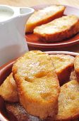 picture of lent  - closeup of a plate with some torrijas - JPG