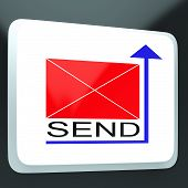 Send Mail Button Showing Online Correspondence