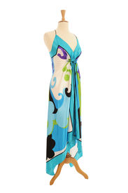 picture of dress mannequin  - Contemporary evening dress on a Mannequin as it would displayed in a shop - JPG
