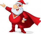 stock photo of incognito  - Santa Claus as a superhero - JPG