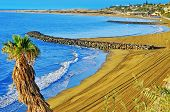 image of canary-islands  - a view of Playa del Ingles beach in Maspalomas - JPG