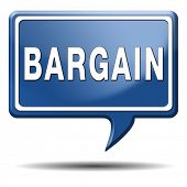 bargain icon or button. Lowest price and great sales deal and reduction or sale promotion with speci