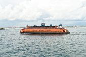 Staten Island Ferry Is Cruising In The Bay