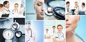 stock photo of work crew  - Collection of medical images with hospital workers - JPG