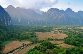The Beautiful Landscape. Vang Vieng. Laos.