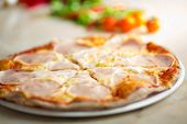 pic of carbonara  - Pizza carbonara portions - JPG