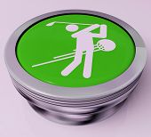 pic of miniature golf  - Golf Button Meaning Golfer Club Or Golfing - JPG