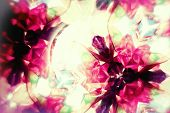 stock photo of kaleidoscope  - Macro image of colorful vintage kaleidoscope flowers - JPG