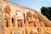 image of pharaohs  - abu simbel egypt as ancient Egypt - JPG