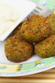 Falafel, close up