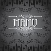 template for menu card with cutlery stock vector