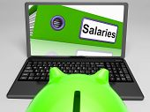 pic of payroll  - Salaries Laptop Meaning Payroll And Income On Internet - JPG