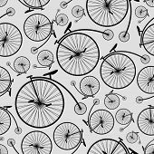 bicycle historic pattern eps10