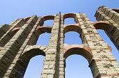 pic of aqueduct  - Miracles aqueduct in Merida - JPG