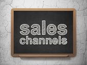 Marketing concept: Sales Channels on chalkboard background