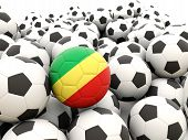 Football With Flag Of Republic Of The Congo