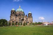 image of dom  - town square at Berlin Cathedral  - JPG