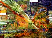 Nice Abstract  Original oil Painting mixed media