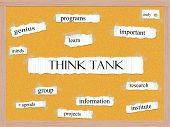 Think Tank Corkboard Word Concept