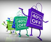 Forty-percent Off Bags Show 40 Discounts