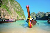 foto of phi phi  - The Long tailed boat - JPG