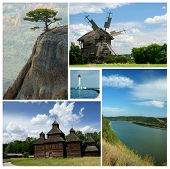 picture of crimea  - Collage of ukrainian cultural and nature landmarks  - JPG