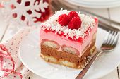 Постер, плакат: No Bake Chocolate Raspberry And Savoiardi Layer Cake
