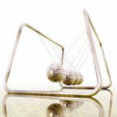 image of newton  - Digital 3D Illustration of a Newton Pendulum - JPG