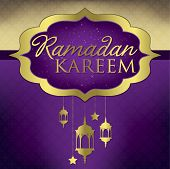 "stock photo of ramadan mubarak card  - ""Ramadan Kareem"" (generous Ramadan) Elegant Card In Vector Format. - JPG"