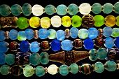 foto of cameos  - Close up of colorful Glass Bead Necklaces - JPG