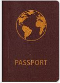 foto of passport template  - Template of passport on white background - JPG