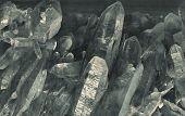 foto of quartz  - druse of the classic crystal quartz - JPG
