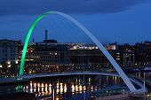 Green Gateshead Millennium Bridge