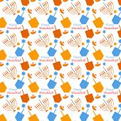 image of hanukkah  - pattern with Hanukkah symbols  - JPG