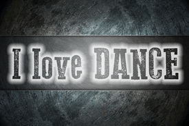 image of lap dancing  - I Love Dance Concept text on background - JPG