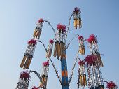 picture of lent  - Joss Sticks in The Bouquet with The Stem of Boonkrathu Festivel End of The Buddhist Lent Day - JPG