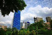 picture of petronas towers  - View of the Kuala Lumpur - JPG