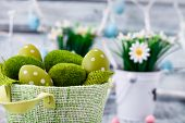 stock photo of easter eggs bunny  - Easter - JPG