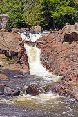 foto of chute  - Water Chute on the Sand River in Lake Superior Provincial Park in Ontario - JPG