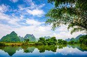 image of landforms  - Karst Mountain landscape in Guilin - JPG