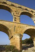 stock photo of aqueduct  - Pont du Gard - JPG